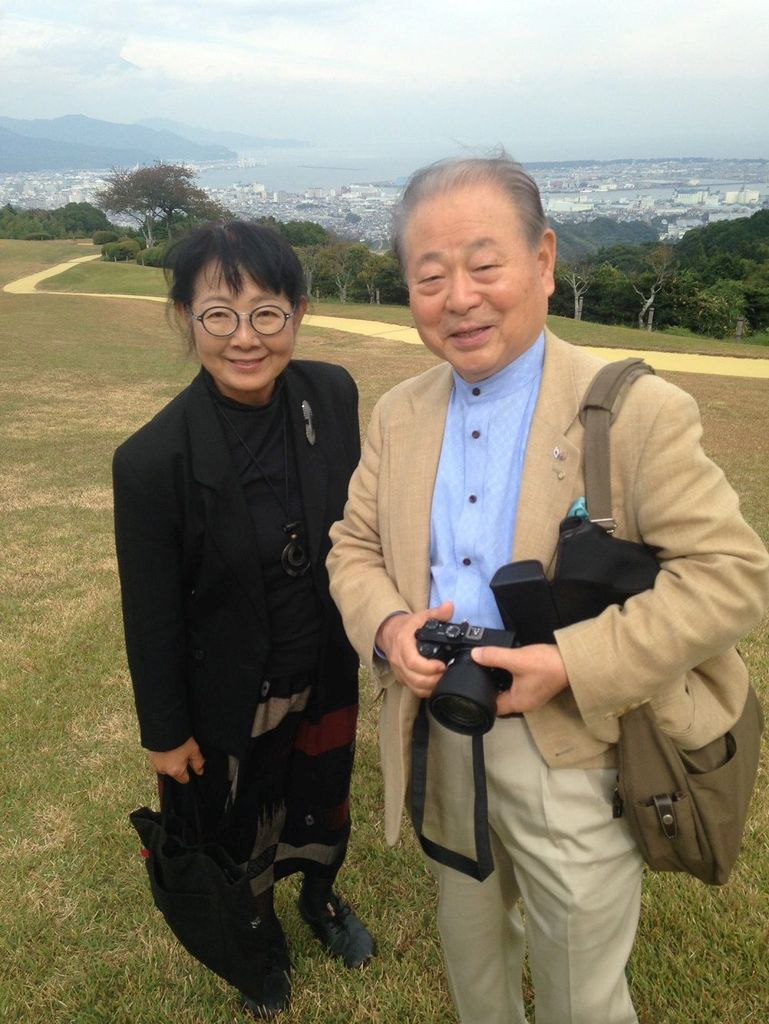 Fumiko and Masahiro Sone. A retired TV executive, Masahiro Sone was a child when Shizuoka was bombed by the U.S. in 1945. [Photo by Michael Kelly/The World Herald]