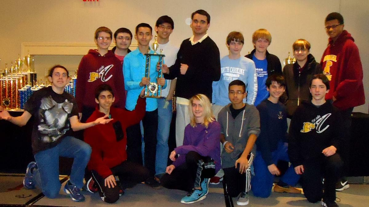 Atkins High School Chess Team at State Scholastic Tournament in 2015