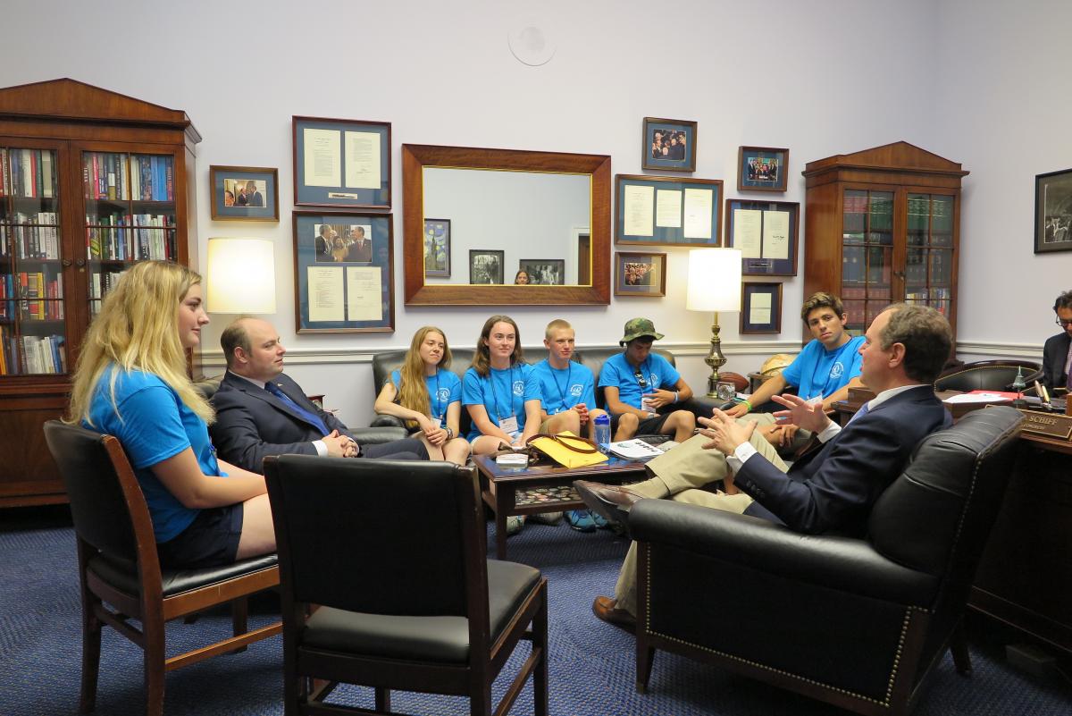 Meeting with U.S. Congressman Adam Schiff.